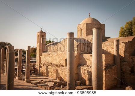 The Panagia Chrysopolitissa orthodox church. Paphos, Cyprus poster