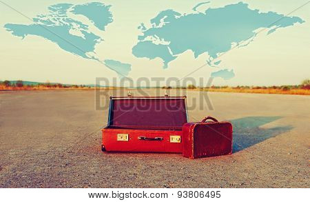 Vintage Suitcases Outdoor
