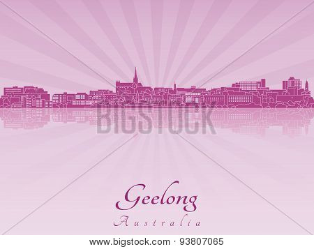 Geelong Skyline In Purple Radiant Orchid
