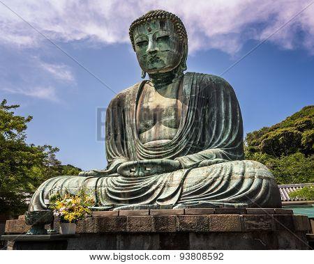 The Great Buddha Of Kamakura (kamakura Daibutsu), A Bronze Statue Of Amida Buddha In Kotokuin Temple