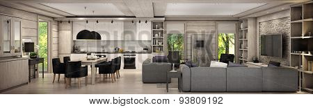 The Living Room Of A Country House