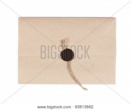 Envelope with Wax Seal isolated on white background poster