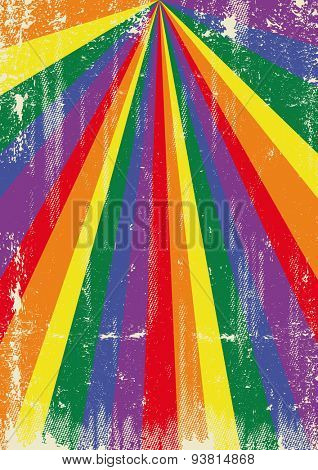 Gay grunge sunbeams. A vintage gay poster with sunbeams and a a texture for your advertising
