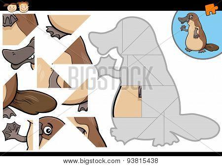 Cartoon Platypus Jigsaw Puzzle Game