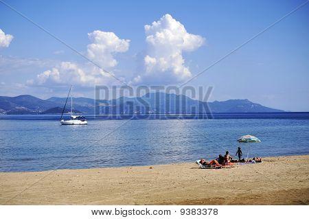 Beautiful beach of Corfu