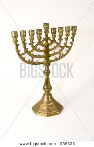 Isolated Menorah