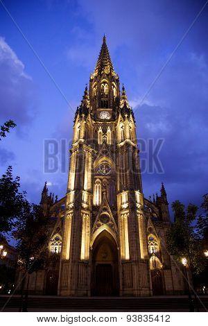 Cathedral In San Sebastian, Spain