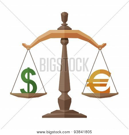 money vector logo design template. banking business or dollar and euro icon.