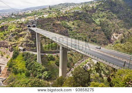 Highway Roads On Madeira Island, Portugal