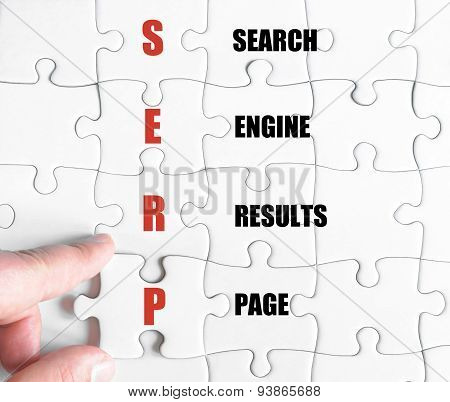 Last Puzzle Piece With Business Acronym Serp