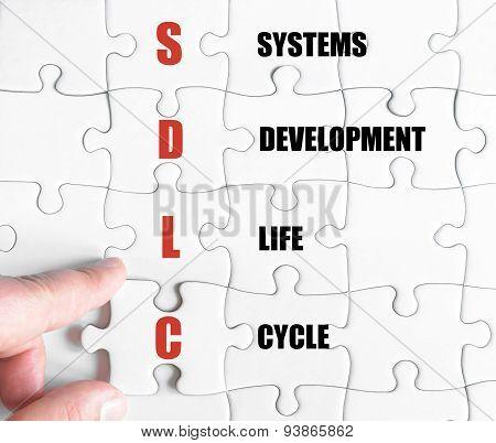 Last Puzzle Piece With Business Acronym Sdlc