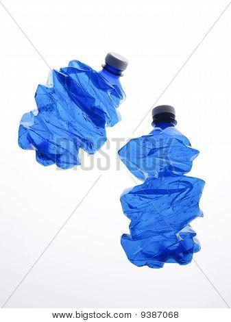 two plastic bottles