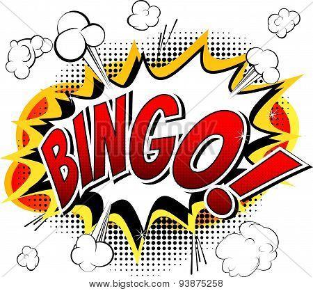 Bingo - Comic book style word.