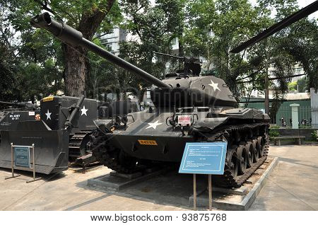 Us Tank Exposed In The War Remnants Museum In Saigon, Vietnam