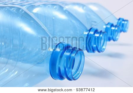 Used Plastic Bottles Of Mineral Water