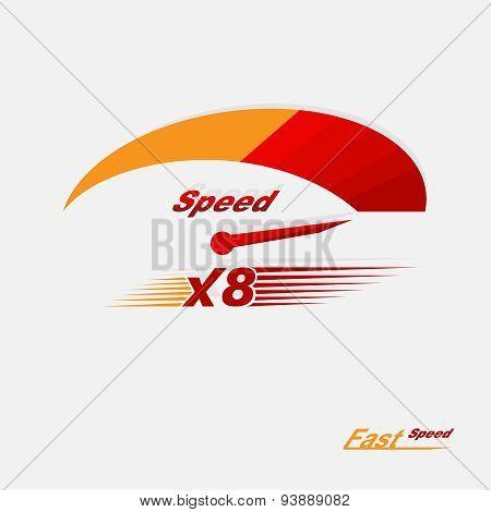 Vector Speedometer Scale