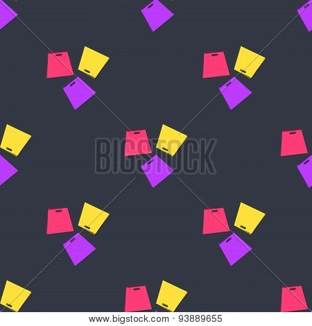 Vector shopping bags seamless pattern. Promotional background design