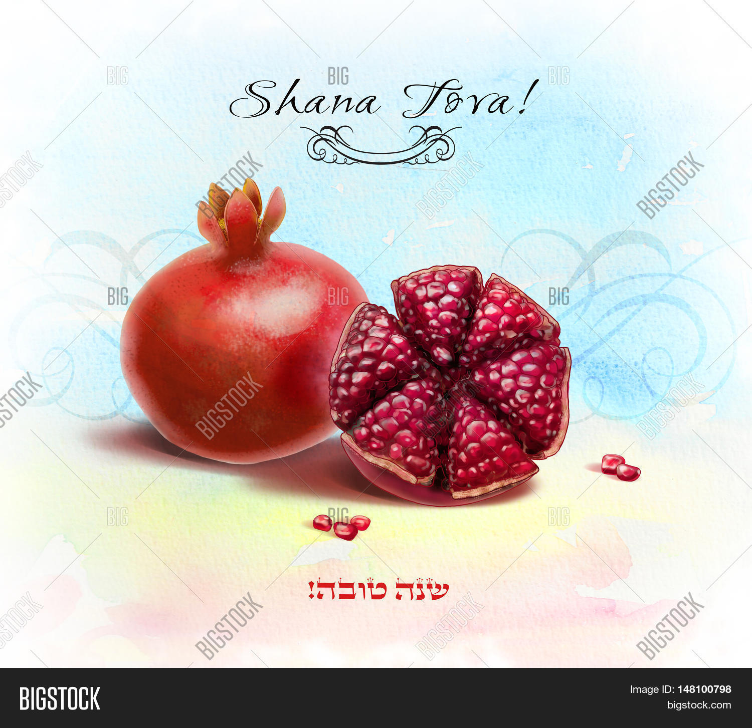 Shana Tova Happy New Image Photo Free Trial Bigstock
