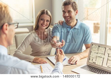 Couple Visiting Realtor