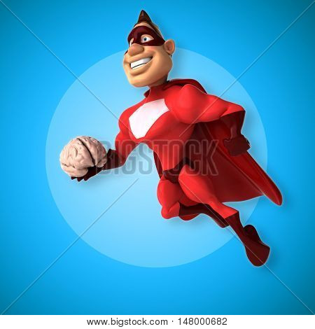 Fun superhero - 3D Illustration