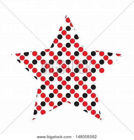 Dotted Five Pointed Star Icon