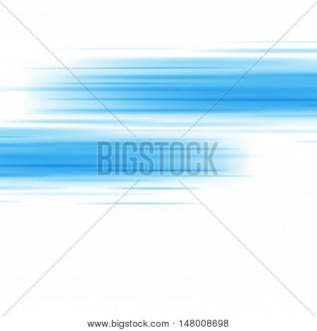 Smooth Light Blue Waves Lines Vector Abstract Background.