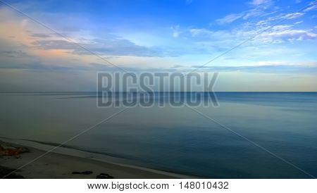 The tranquil sea is abtract of life and the background