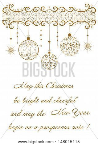 Beautiful festive background with regards to holiday Merry Christmas editable and scaleable vector illustration