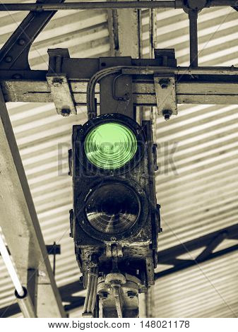 Vintage Looking Green Light