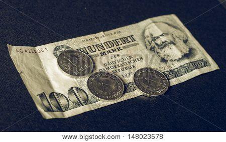 Vintage Ddr Banknote