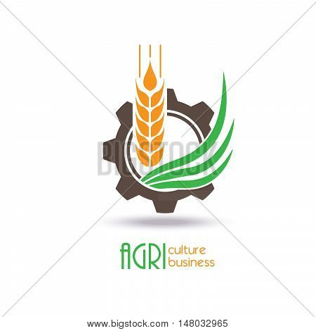 Agriculture Logo Template Design. Icon Sign or Symbol. farm nature ecology. Vector illustration