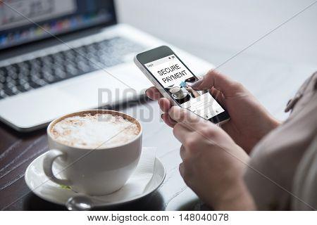 Shopper Woman Paying Online