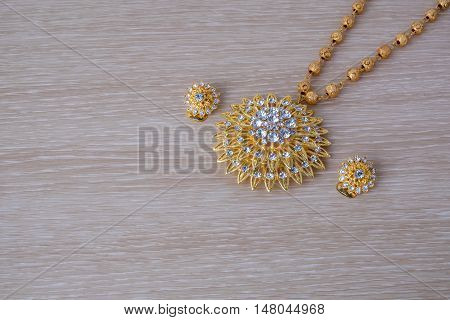 Close Up Shiny Gold  Jewelery