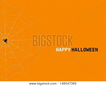 Halloween concept with spider's web and lettering. Vector halloween background.