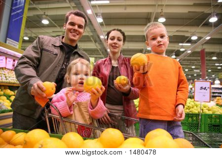 Family With Oranges