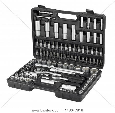 Big set tools isolated on a white background
