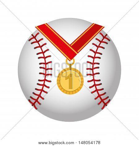 medal first place championship vector illustration design