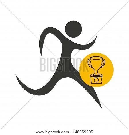 avatar winner trophy first place sport vector illustration design