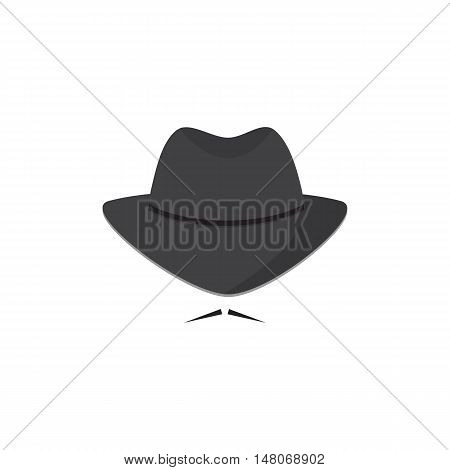 An unidentified man in a hat with a mustache. Mafioso. Secret Agent icon