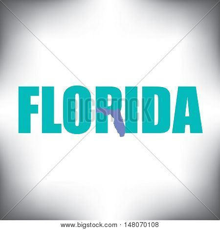 The Florida shape is within the Florida name in this state graphic