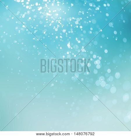 abstract bokeh Lights on blue background .