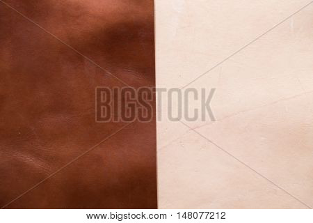 Genuine Vegetable Tanned Leather Shade Background