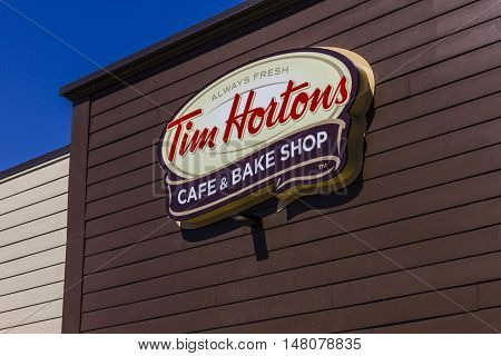 Ft. Wayne - Circa September 2016: Tim Hortons Cafe & Bake Shop. This is the US version of the popular Canadian Fast Casual Restaurant I