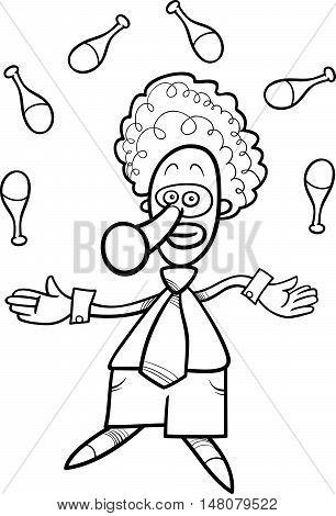 Clown Juggler Coloring Book