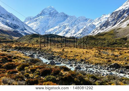 Hooker Valley In Aoraki/mount Cook National Park, New Zealand
