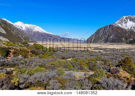 Panoramic View In Aoraki/mount Cook National Park, New Zealand