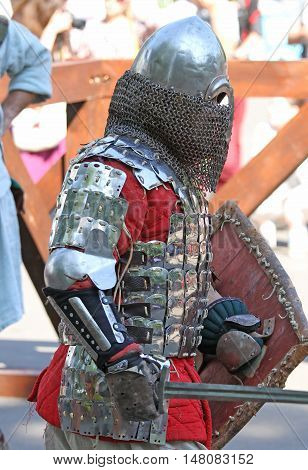 A Medieval Knight During Battle