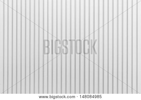 White corrugated metal texture surface and background