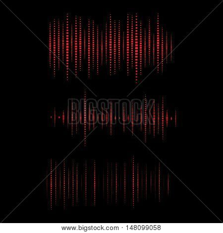 Collection of waveform. Vector illustration for club, radio, party, concerts or the audio technology advertising background. Easy to use. Vector.