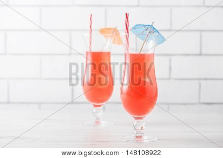 Fresh Home Made Singapore Sling Cocktails